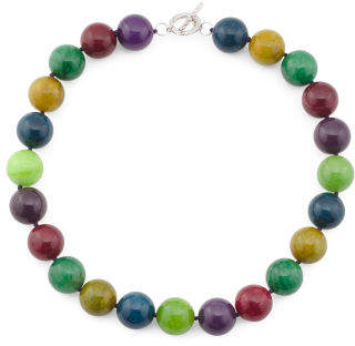 Sterling Silver Agate Gumball Necklace