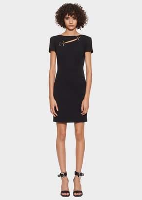 Versace Diagonal décolleté Mini Dress