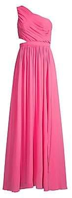 BCBGMAXAZRIA Women's One-Shoulder Cutout Gown