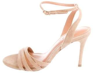 Halston Suede Wrap-Around Sandals