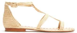 ca4e6675cc8 Carrie Forbes Tama Raffia Sandals - Womens - Cream