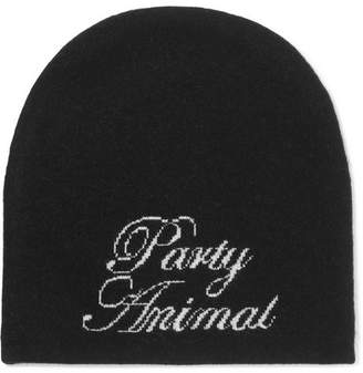 Alexander Wang Party Animal Wool And Cashmere-blend Beanie - Black