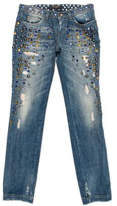 Dolce & Gabbana Mid-Rise Embellished Jeans