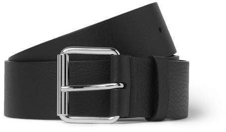 Balenciaga 4cm Black Logo-Print Full-Grain Leather Belt