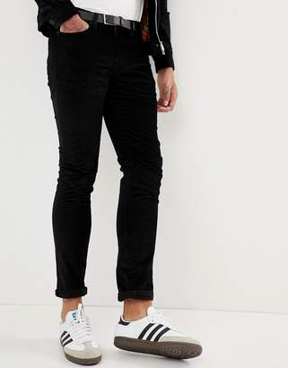 Paul Smith slim fit cord trousers in black