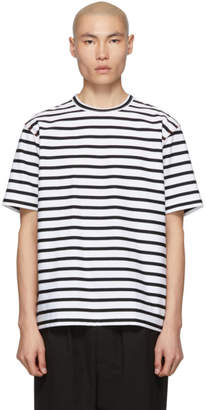 Comme des Garcons Homme Black and White Striped T-Shirt