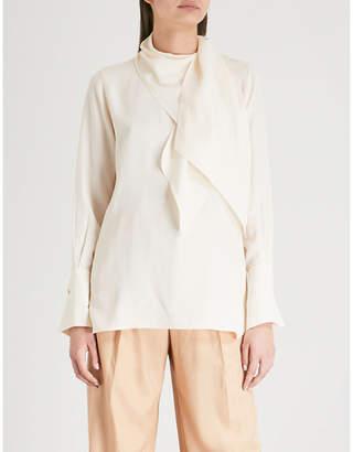 Joseph Geoff draped silk blouse