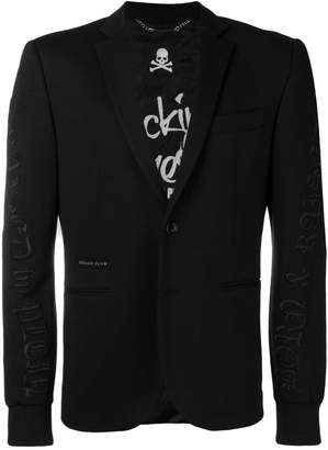 Philipp Plein jersey formal blazer