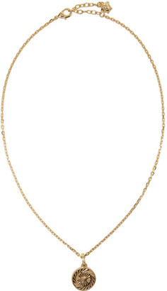 Versace Gold Round Chain Pendant Necklace