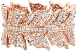 Stephen Webster Rose Gold Magnipheasant Pavé Diamond Ring