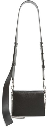 Allsaints Zep Leather Shoulder Bag - Black $278 thestylecure.com
