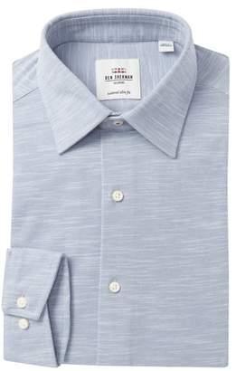 Ben Sherman Slub Knit Tailored Slim Fit Dress Shirt