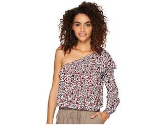 BB Dakota Varda Ditzy Blossom Printed Crinkle Rayon Top Women's Clothing