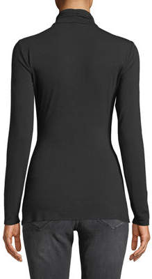 Nicole Miller New York Ruched Ruffle-Front Long-Sleeve Tee