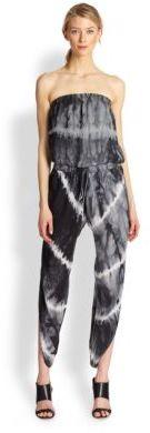 Haute Hippie Silk Strapless Harem Jumpsuit
