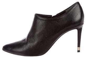 Tory Burch Leather Pointed-Toe Booties