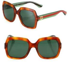 Gucci 54MM Glitter Web Oversized Square Sunglasses