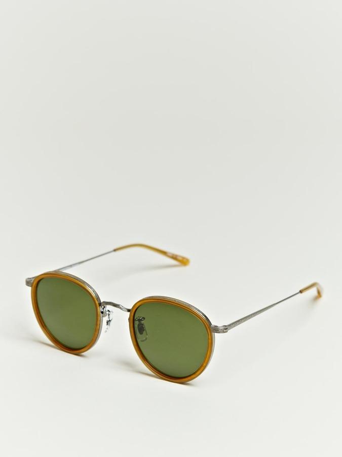 Oliver Peoples Unisex Metal Patterned Rim Sunglasses