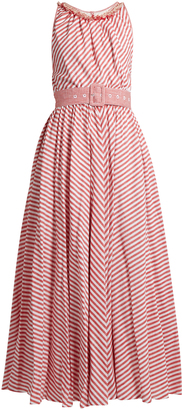 GÜL HÜRGEL Striped sleeveless cotton and linen-blend dress $668 thestylecure.com