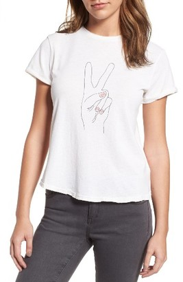Women's Sincerely Jules Peace Hand Graphic Tee $65 thestylecure.com