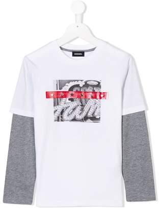 Diesel layered sleeved T-shirt