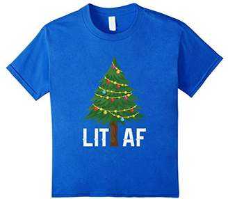 Abercrombie & Fitch Lit Christmas Tree Lights T Shirt