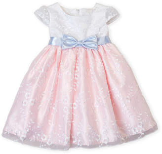 Princess Faith (Toddler Girls) Floral Embroidered Organza Dress