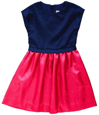 Lee Busy Bees Navy & Pink Fit & Flare Dress