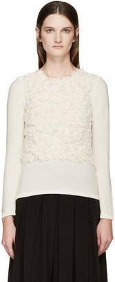 Comme des Garçons Cream Textured Sweater $530 thestylecure.com