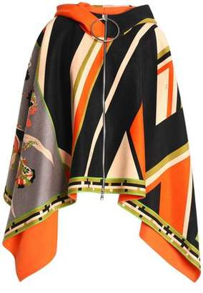 Emilio Pucci Printed Wool And Cashmere-Blend Hooded Cape