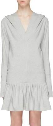 Norma Kamali 'Rara' zip hoodie dress
