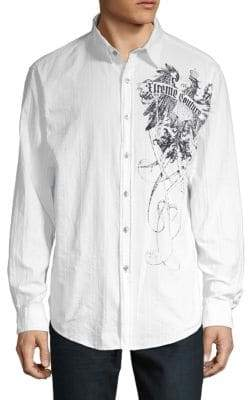 Xtreme Couture Woven Graphic Button-Down Shirt