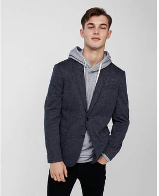 Express slim navy knit blazer