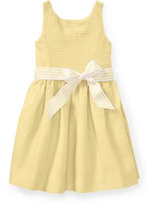 Ralph Lauren Pintucked Cotton Dress