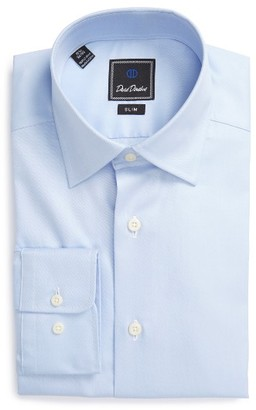 Men's David Donahue Slim Fit Solid Dress Shirt $135 thestylecure.com