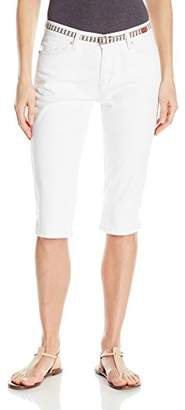 Lee Women's Modern Series Midrise Fit Belted Maisie Capri Jean