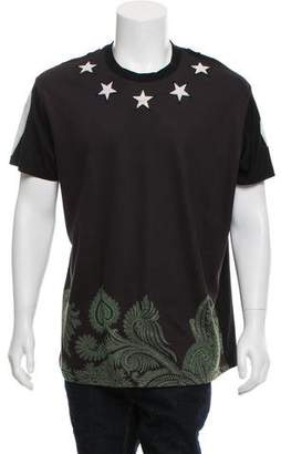 Givenchy Paisley Print Terry Cloth Star T-Shirt