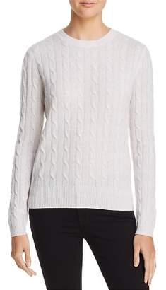 Aqua Cable Crewneck Cashmere Sweater - 100% Exclusive