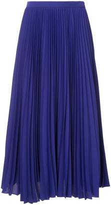 Le Ciel Bleu pleated georgette skirt