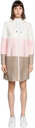 Courreges Color Block Crackled Vinyl Coated Parka
