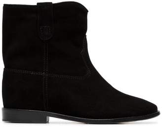 Isabel Marant black Crisi flat suede ankle boots