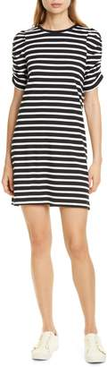 Kate Spade Sailing Stripe Ruched Sleeve Cotton Dress