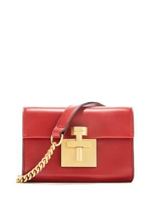 Oscar de la Renta Cranberry Leather Alibi Belt Bag