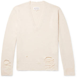 Maison Margiela Oversized Distressed Wool Sweater