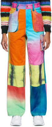 AGR SSENSE Exclusive Multicolor Hand-Dyed Cargo Pants