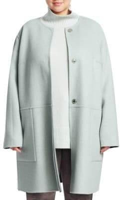 Lafayette 148 New York Lafayette 148 New York, Plus Size Kierra Reversible Cashmere Jacket