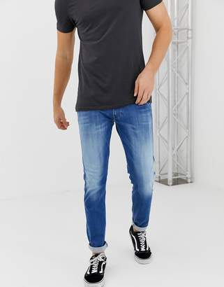 Replay Anbass Hyperflex stretch slim jean in mid wash