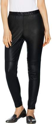 Halston H By H by Petite Stretch Leather Leggings