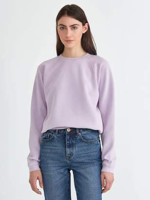 Frank and Oak The Vintage Wash Gym Sweatshirt in Lavender Frost