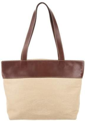 Chanel Leather-Trimmed CC Tote